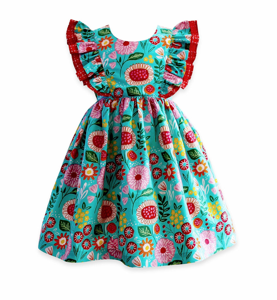 Girls Dress - LillyBelle Minnie Pinnie Dress / Hair Bow