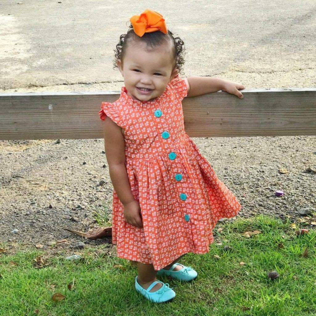 LillyBelle Orange Pop Glen Park Dress