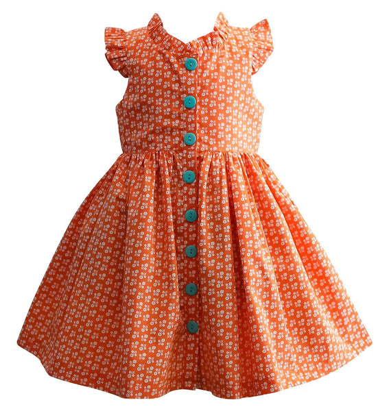 LillyBelle Orange Pop Glen Park Dress - Little Miss Marmalade