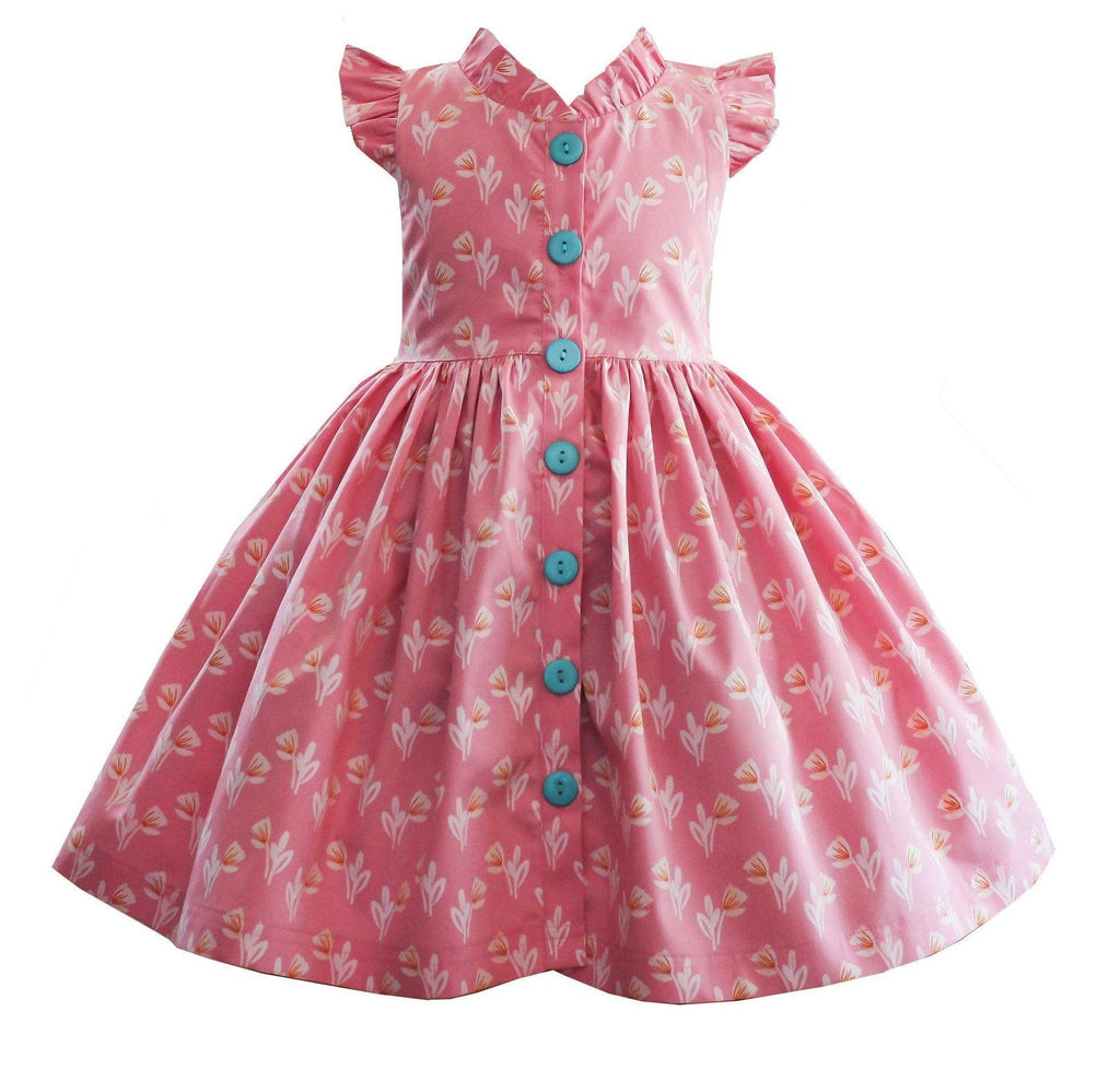 Girls Dress - LillyBelle Pink Lilly Glen Park Dress