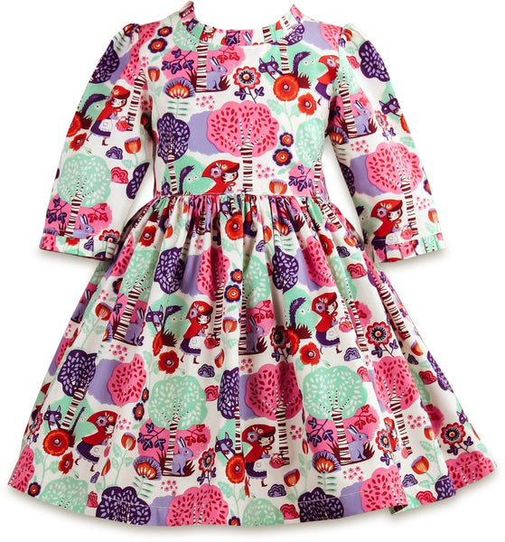Little Red Riding Hood Cherry Street Dress - Little Miss Marmalade