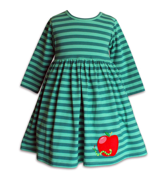 Meadow Back To School Apple Dress - Little Miss Marmalade