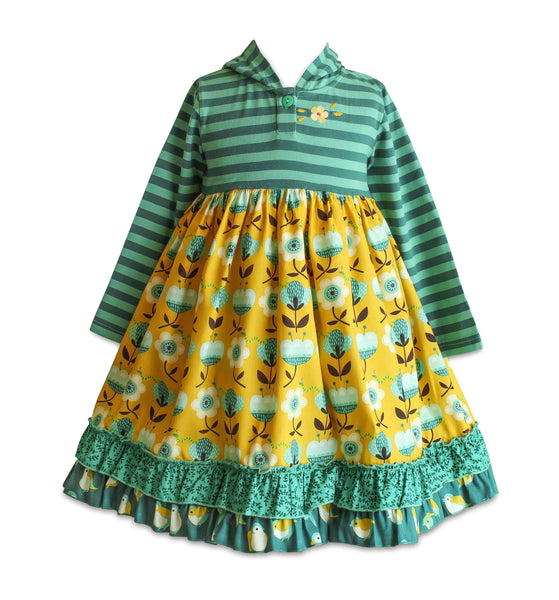 Meadow Back to School Hoodie Dress - Little Miss Marmalade