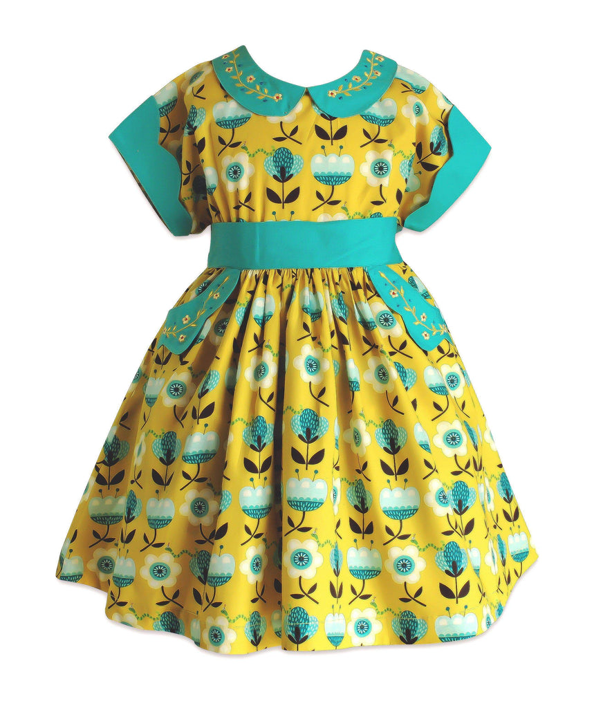 Meadow Retro Polk Street Dress - Little Miss Marmalade