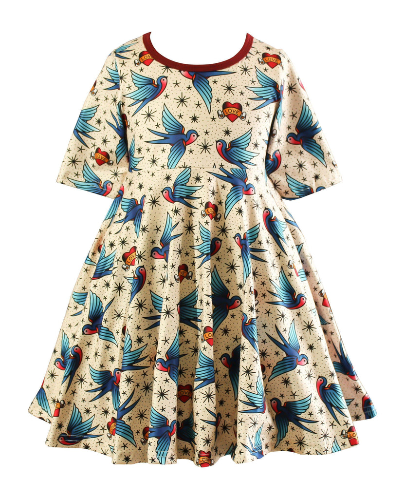 Milk Silk Love Tattoo Skater Dress - Little Miss Marmalade