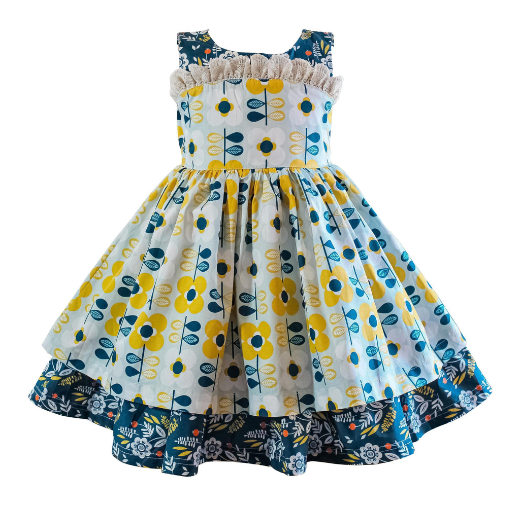 Modern Bloom Vintage Wilder Dress - Little Miss Marmalade