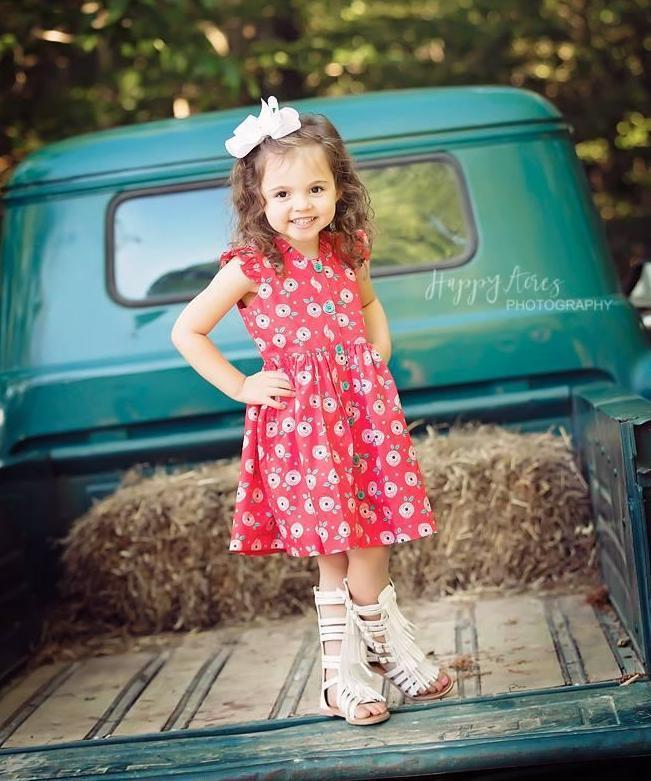 Girls Dress - Moxie Red Glen Park Dress