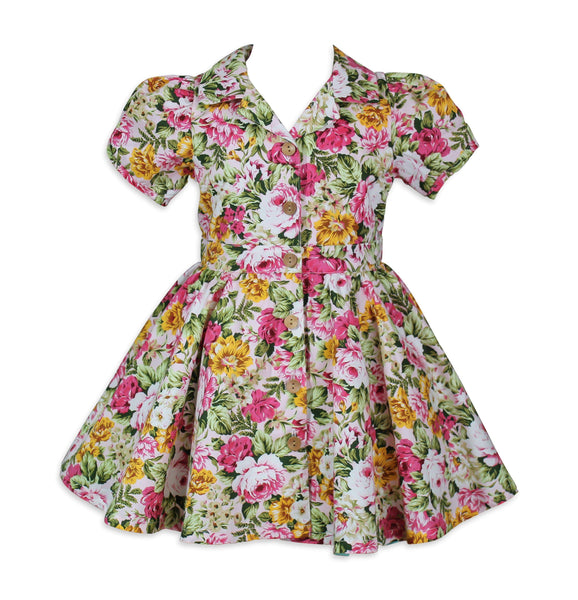 Retro Susie Q Floral Dress - Little Miss Marmalade