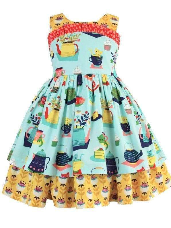 Tea & Kitties Wilder Dress - Little Miss Marmalade