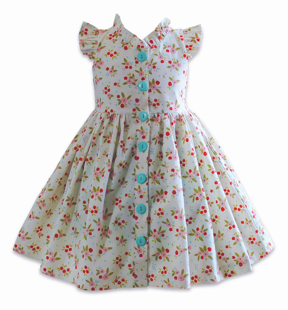 The Little BakeShop Ditsy Vintage Glen Park Dress - Little Miss Marmalade