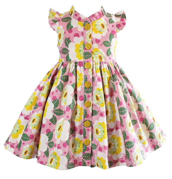 Unicornland Flower Glen Park Dress - Little Miss Marmalade