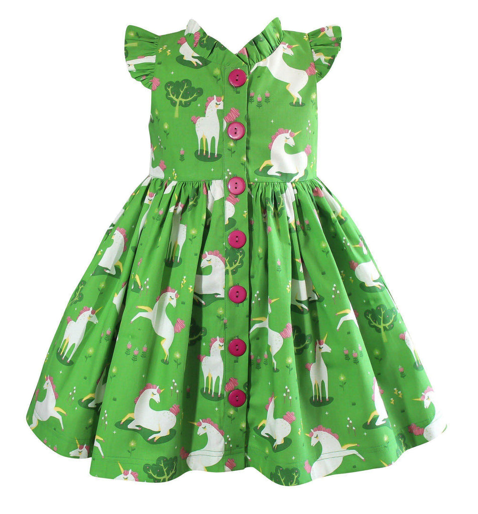 Girls Dress - Unicornland Glen Park Dress