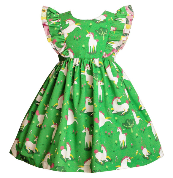 Girls Dress - Unicornland Minnie Pinnie Dress