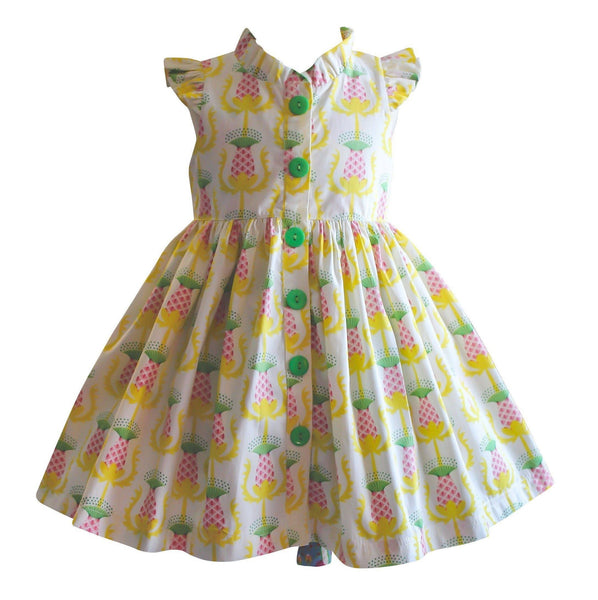 Unicornland Pineapple Glen Park Dress - Little Miss Marmalade