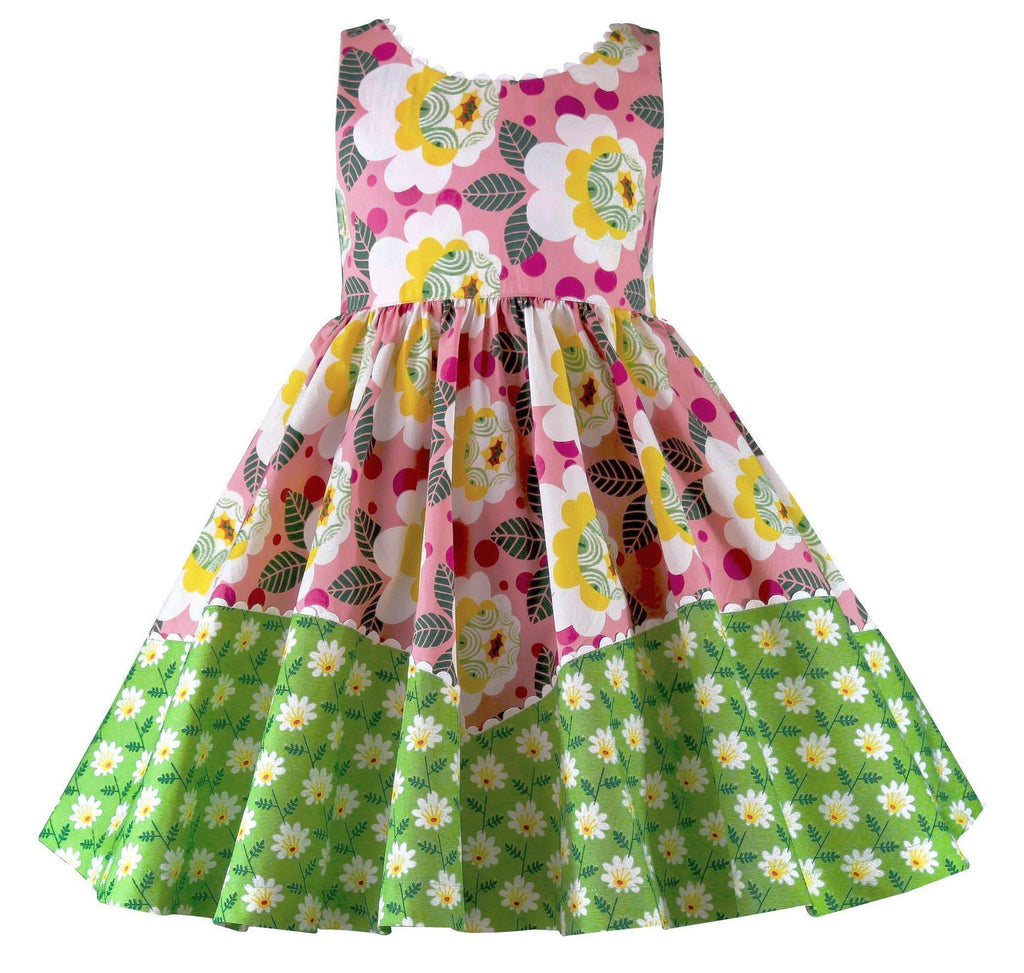 Girls Dress - Unicornland Retro Flower Dolores Park Dress