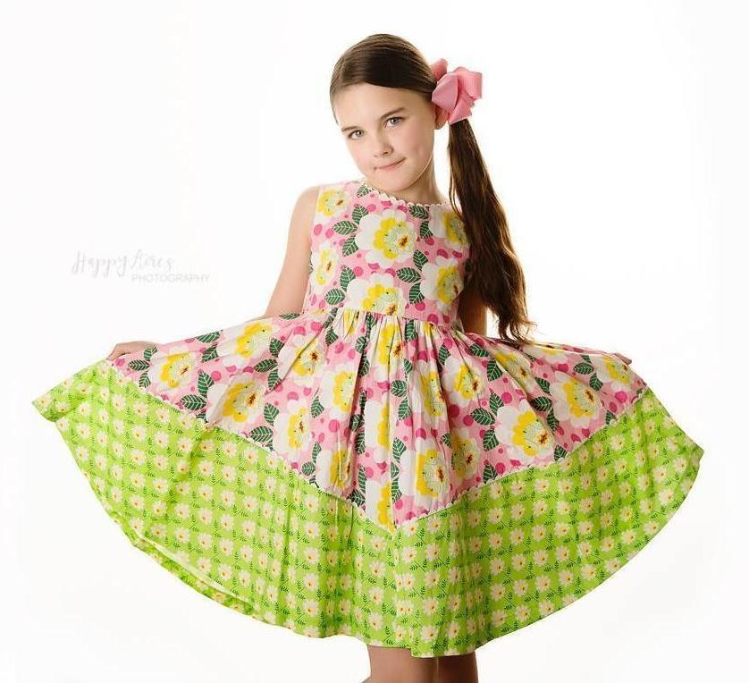 ba0d097527b ... Girls Dress - Unicornland Retro Flower Dolores Park Dress. Little Miss  ...