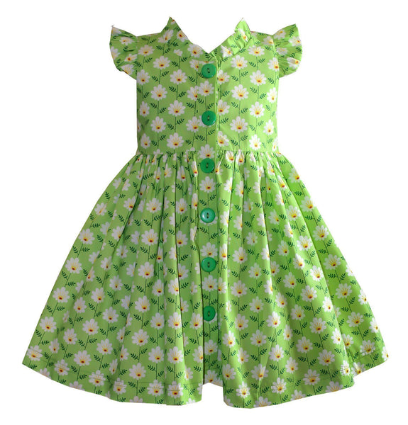 Girls Dress - Unicornland Spring Daisy Field Glen Park Dress
