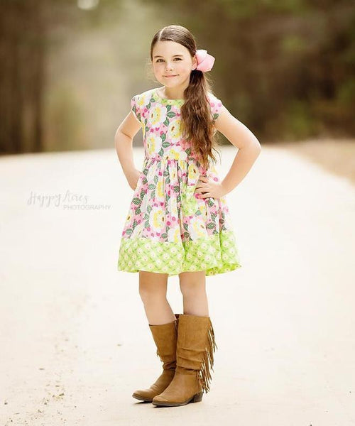 Girls Dress - Unicornland Vintage Picnic Dress
