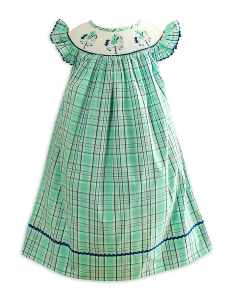 Vintage Carousel Smocked Dress - Little Miss Marmalade
