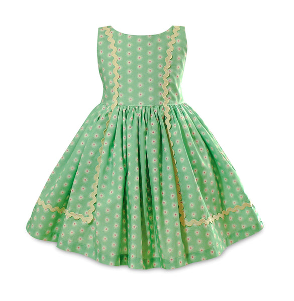 Vintage Garden Mint Baily Dress - Little Miss Marmalade