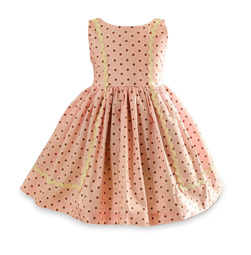 Vintage Garden  Pink Bailey Dress - Little Miss Marmalade