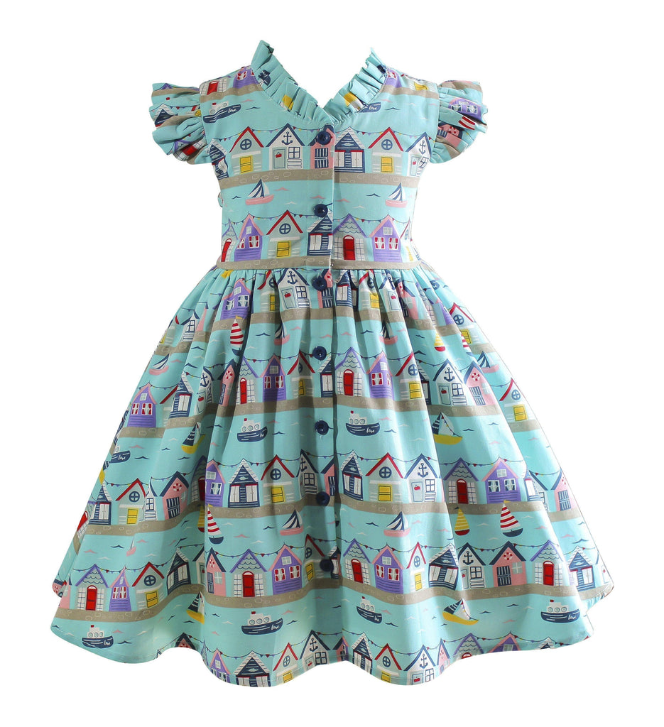 Vintage Sailboat Glen Park Dress - Little Miss Marmalade