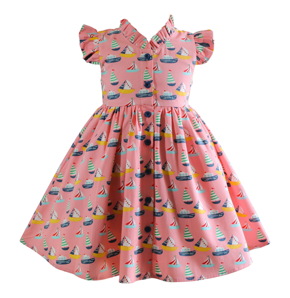 Vintage Sailor Glen Park Dress - Little Miss Marmalade