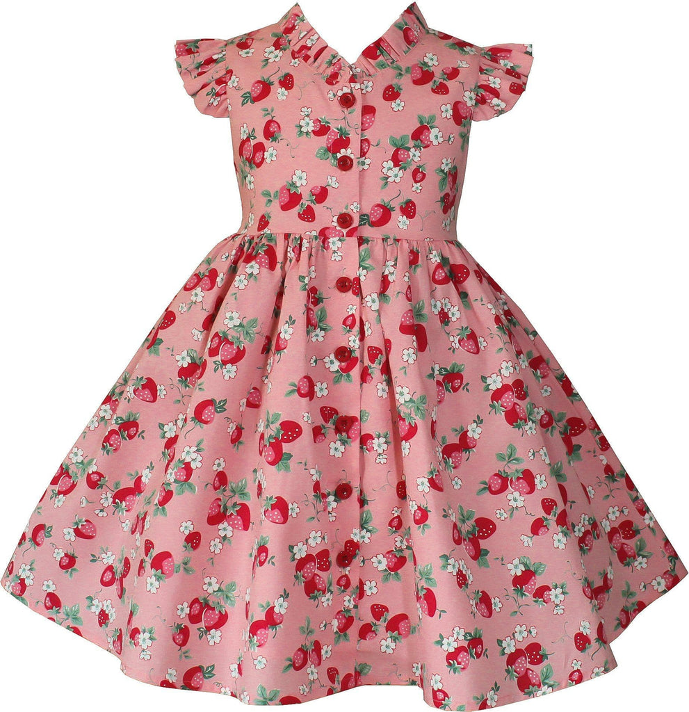 Vintage Strawberry Glen Park Dress - Little Miss Marmalade