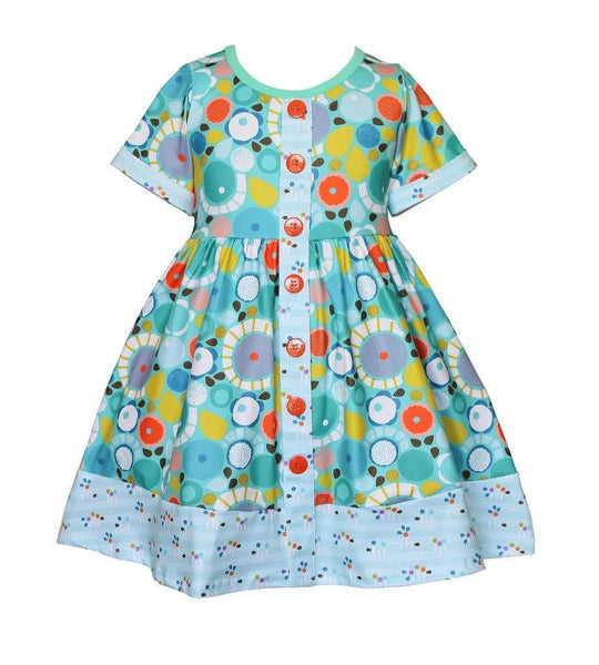 Water Color Parkside Dress - Little Miss Marmalade