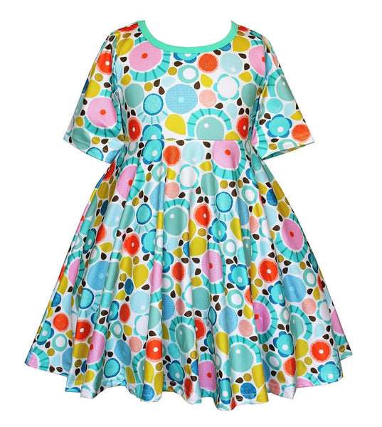 Girls Dress - Water Color Skater Dress