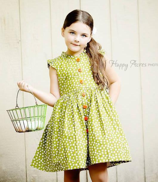 Wishful Glen Park Vintage Green Floral Dress - Little Miss Marmalade
