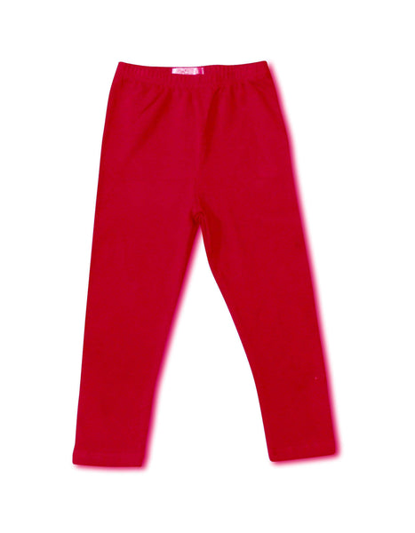 Girls Leggings - Be Merry Red Leggings