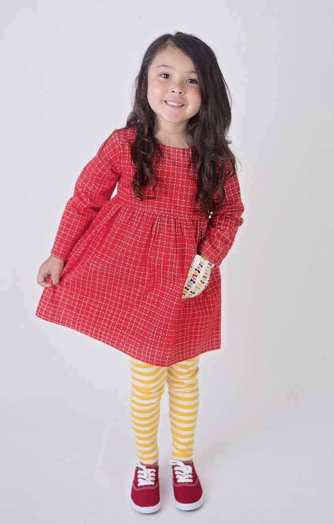 Go Fly a Kite Red Katie Tunic Top - Little Miss Marmalade
