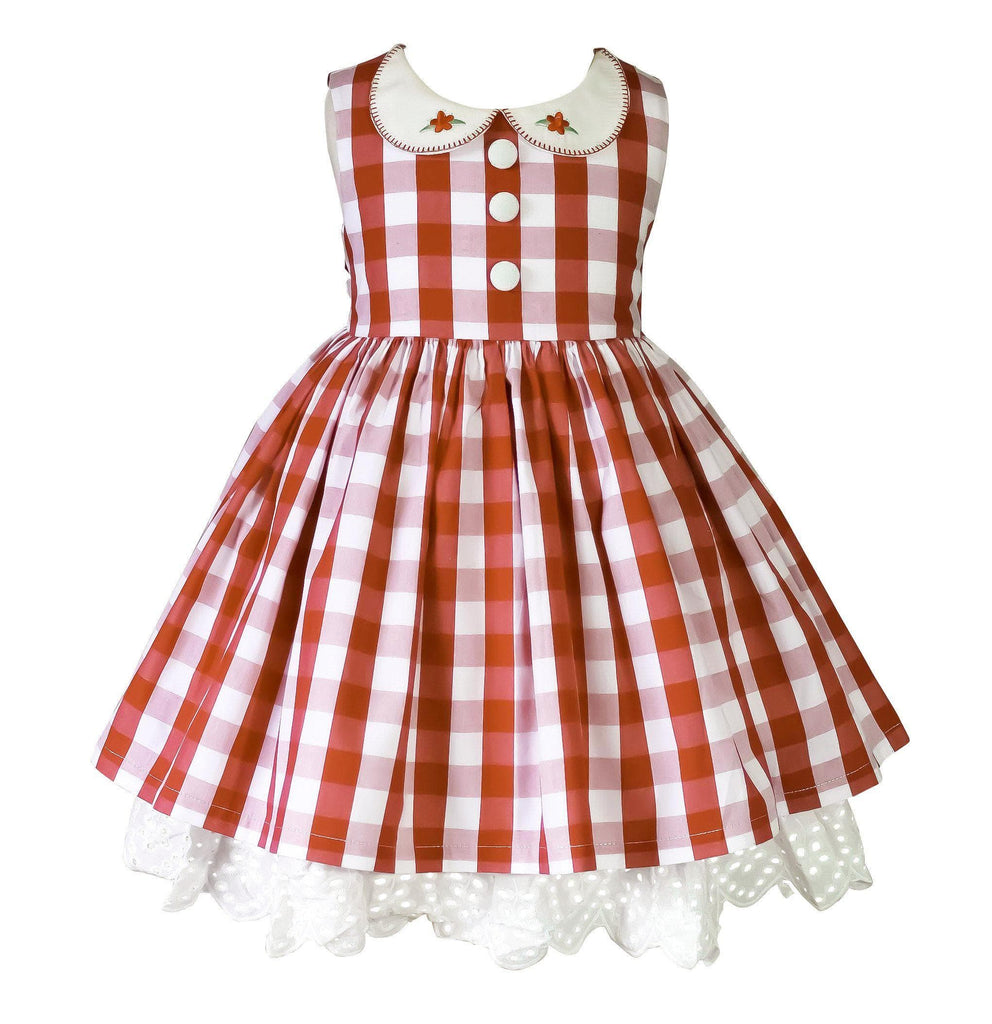 Alabama Red Gingham Dress - Little Miss Marmalade