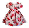 Rose Criss-Cross Dress & Bow - Little Miss Marmalade