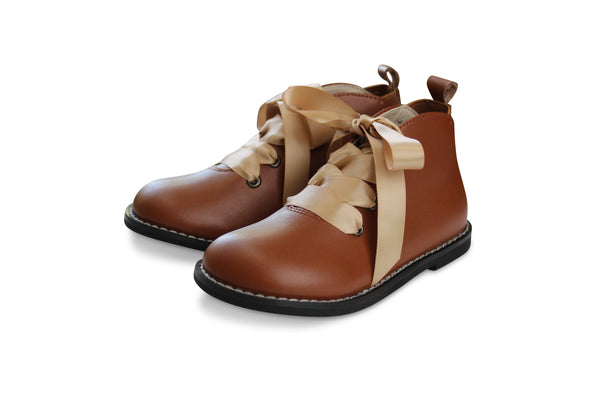 Hyde Street Brown Ankle Boot/Bootie - Little Miss Marmalade