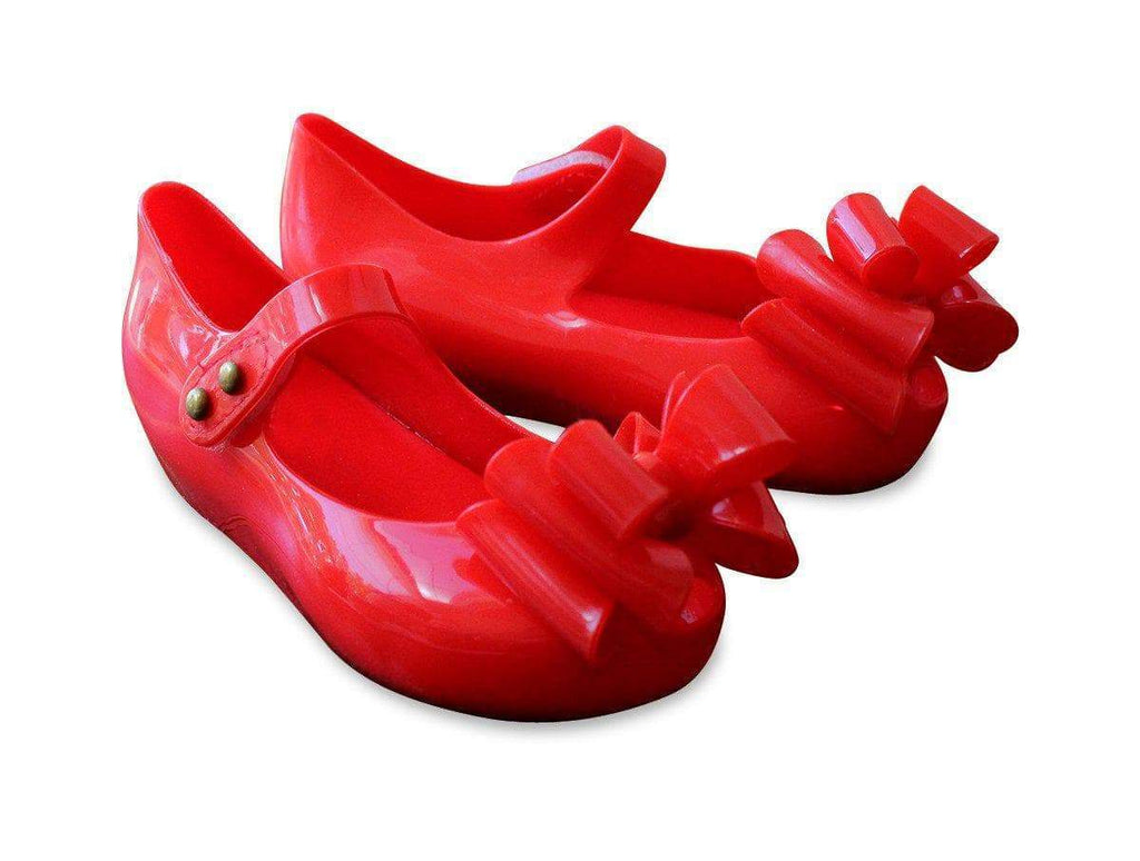 Jelly Mary Jane Shoes Red