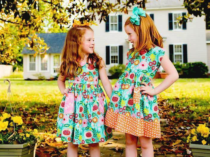 girls retro dress 1950s