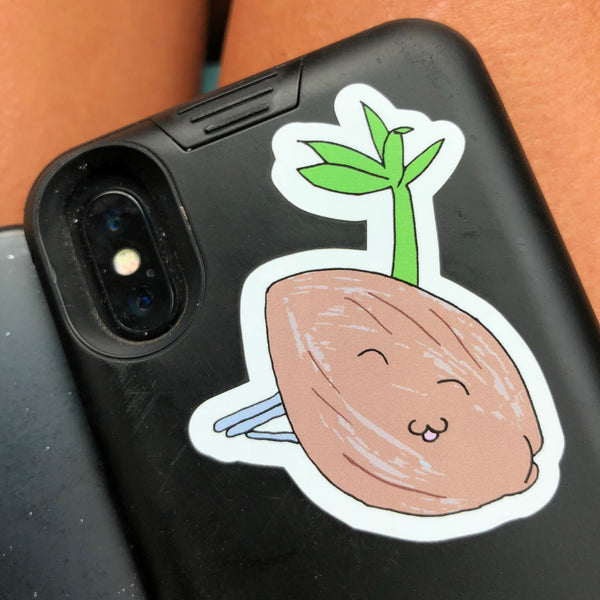 Sprouted Coconut Sticker
