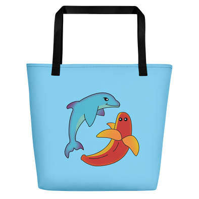 Miami Fruit Dolphin Banana Beach Bag