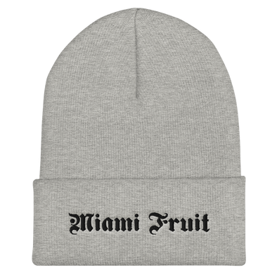 Miami Fruit Tattoo Font Beanie