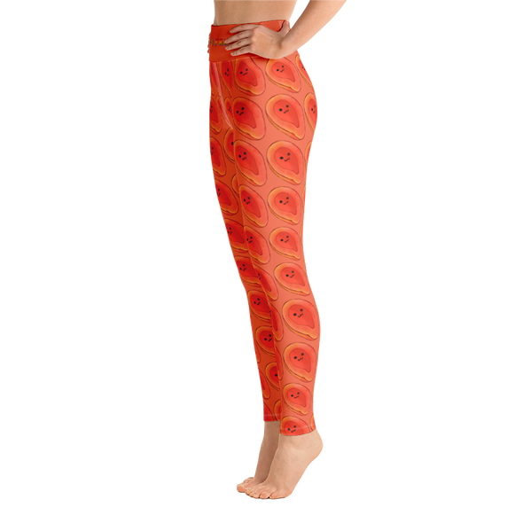 Papaya High Waist Yoga Leggings