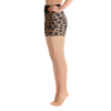 Durian Leopard High Waist Yoga Shorts