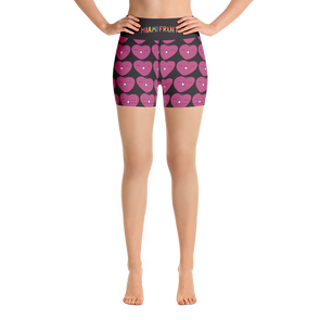 Custard Apple High Waist Yoga Shorts