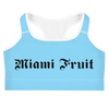 Miami Fruit Tattoo Font Sports bra