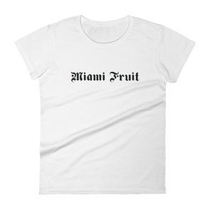 MiamiFruit Tattoo Font Women's short sleeve t-shirt