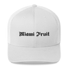 Miami Fruit Tattoo Font Trucker Cap