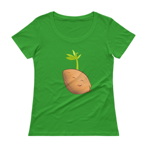 Sprouted Coconut Scoopneck Shirt