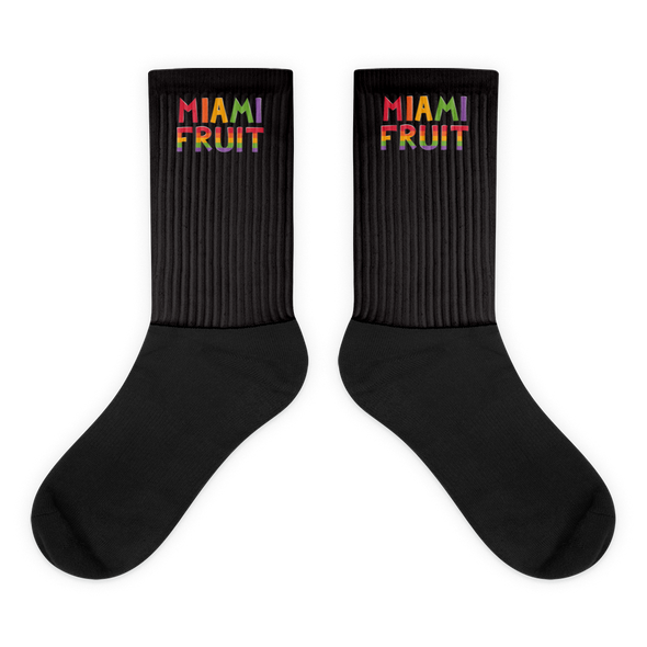 MiamiFruit Socks Black