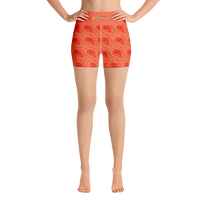 Papaya Yoga High Waist Shorts